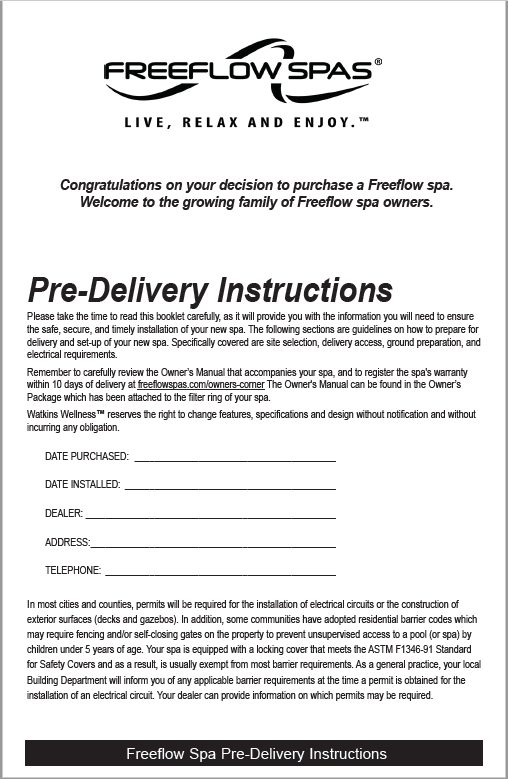 Freeflow Pre-Delivery Picture